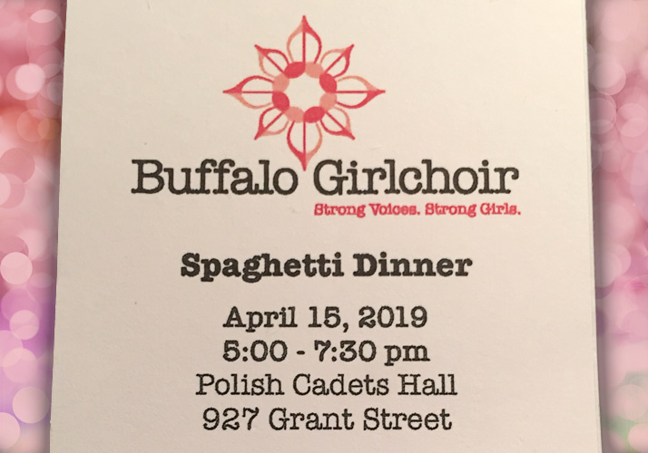 Buffalo Girlchoir Spaghetti Dinner